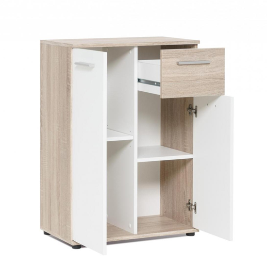 Clarion Compact Sideboard In Wild Oak Effect And White_5