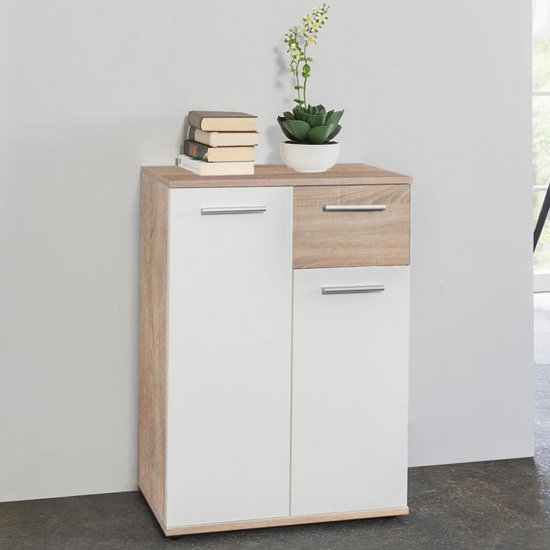 Clarion Compact Sideboard In Wild Oak Effect And White_1