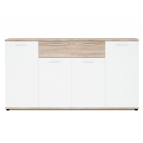 Clarion Wooden Sideboard In Wild Oak Effect And White_2