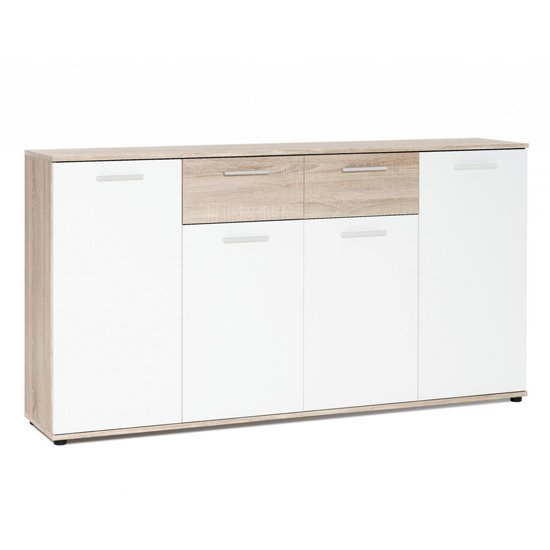 Clarion Wooden Sideboard In Wild Oak Effect And White_1