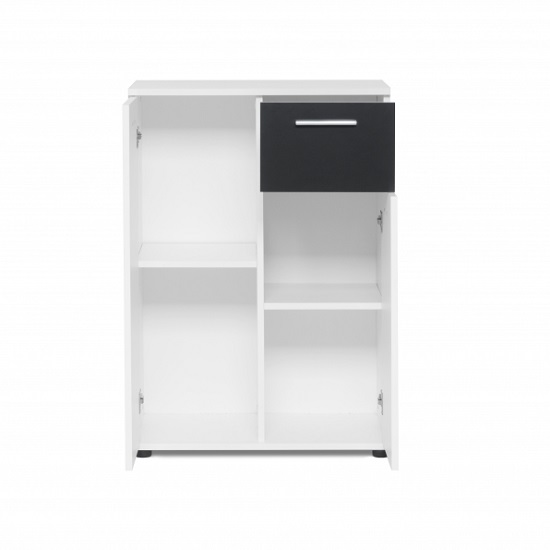 Clarion Wooden Compact Sideboard In White And Black_2