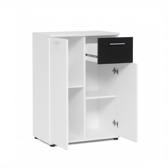 Clarion Wooden Compact Sideboard In White And Black_3