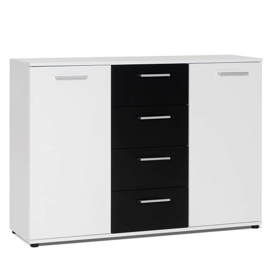 Clarion Wooden Sideboard In White And Black With 2 Doors