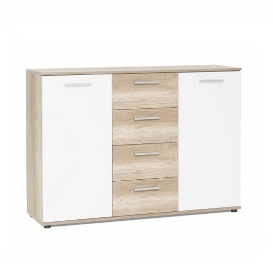 Clarion Sideboard In Sonoma Oak Effect And White With 2 Doors