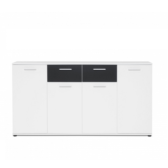 Clarion Wooden Sideboard In White And Black With 4 Doors