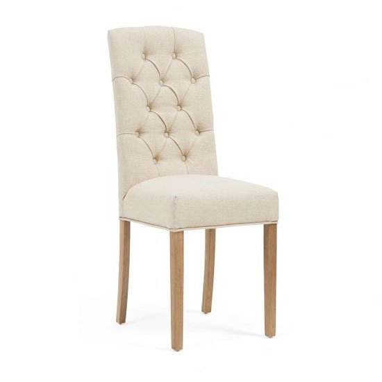 Clarissa Beige Fabric Dining Chairs In A Pair_2