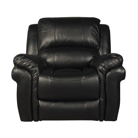 Claton Recliner Sofa Chair In Black Faux Leather_2