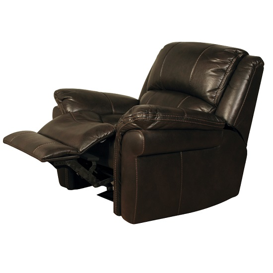 Claton Recliner Sofa Chair In Brown Faux Leather_2