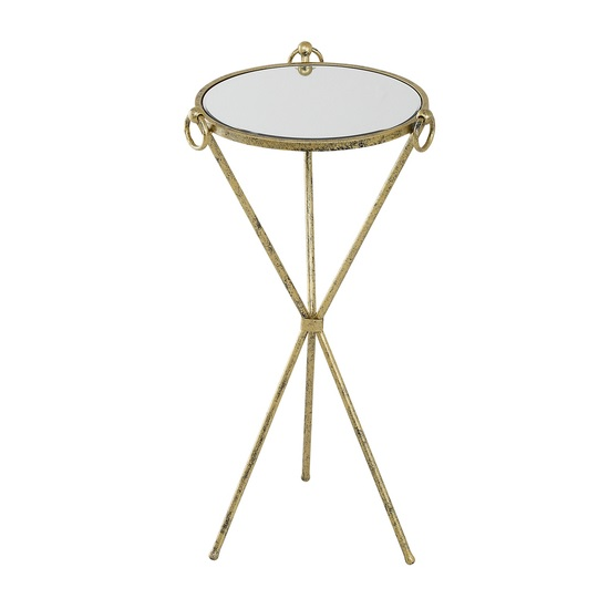 Claudia Glass Accent Table Round In Clear With Metal Frame
