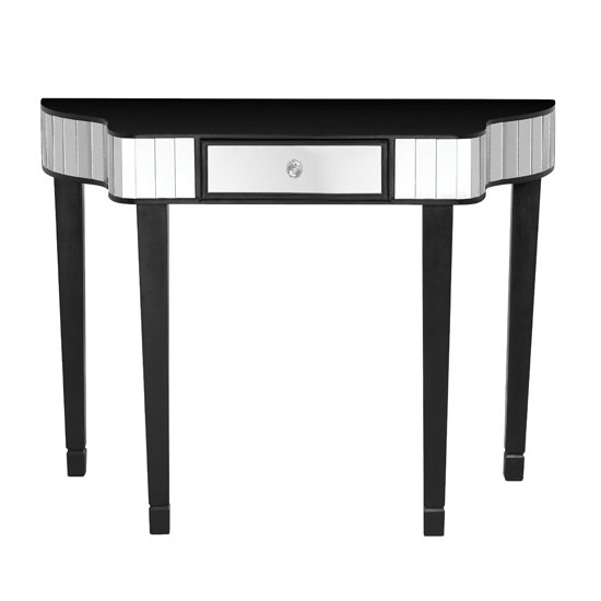 Clavona Mirrored Console Table In Black_2