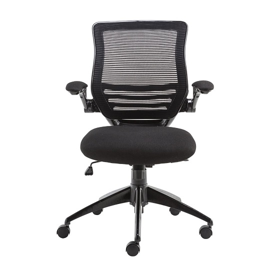 Clay Bracket Shaped Office Chair In Mesh Black