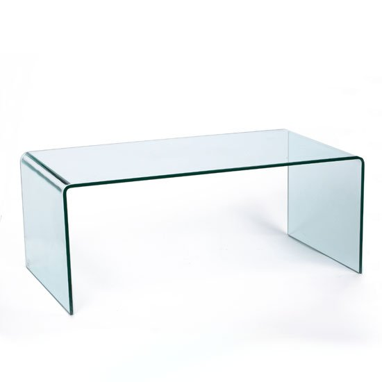 Modern Bent Clear Glass Coffee Table 86 5522