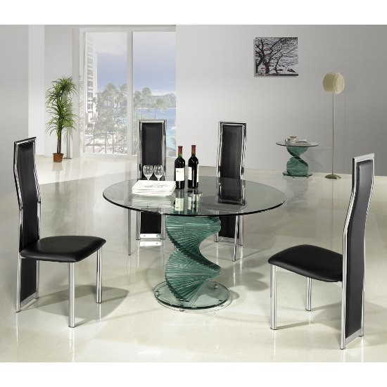 Glass dining table chairs Shop for cheap Tables and Save  : clear glass dining table twirlclDing650 from www.pricechaser.co.uk size 550 x 550 jpeg 50kB