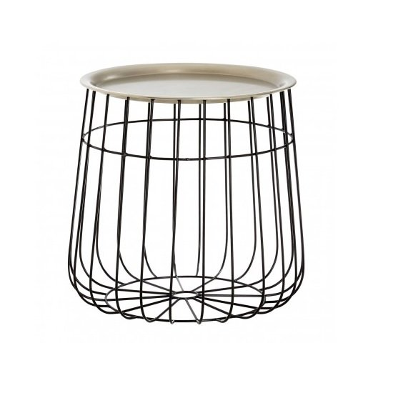 Clemence Modern Side Table In Silver And Black_1