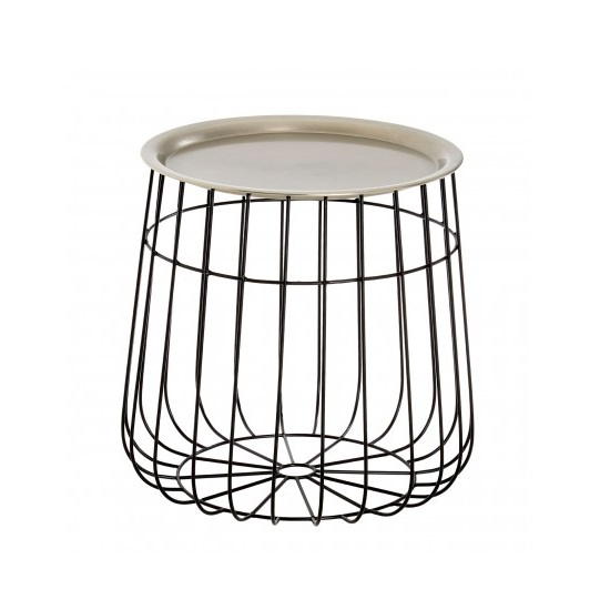 Clemence Modern Side Table In Silver And Black_2
