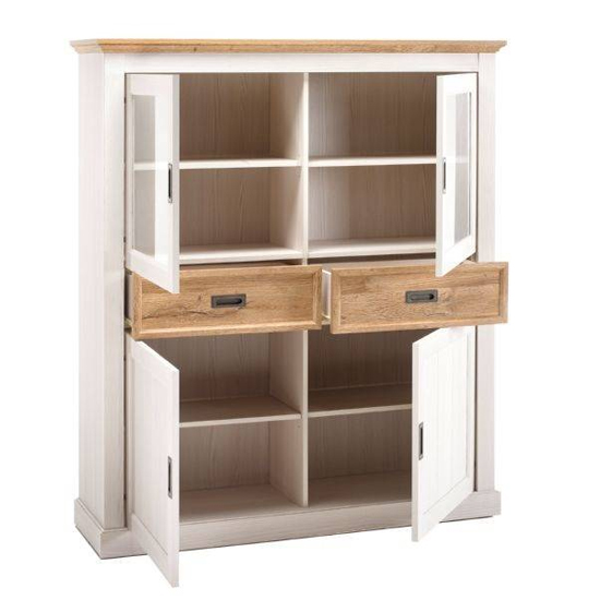 Cleveland Large Display Cabinet In White And Wild Oak_2