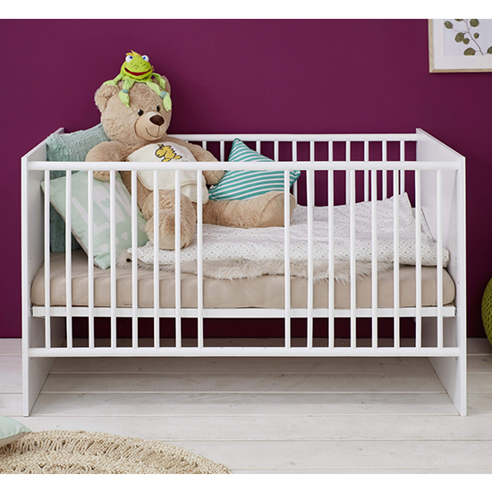 Clevo Baby Room Wooden Furniture Set In White_2