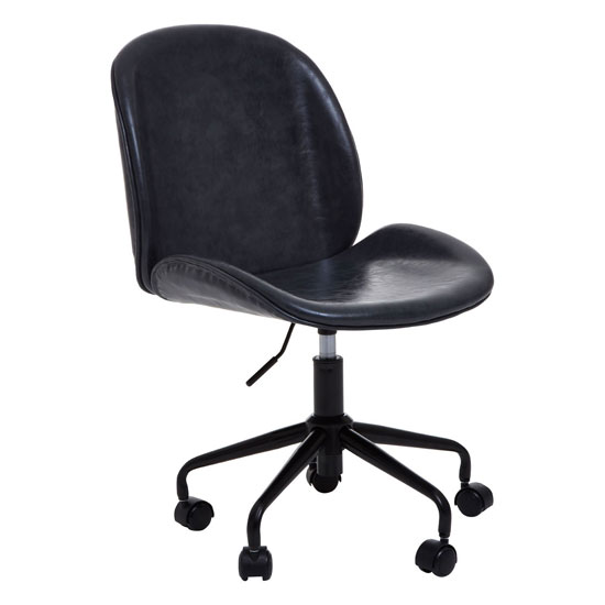 View Clintons leather home and office chair in grey