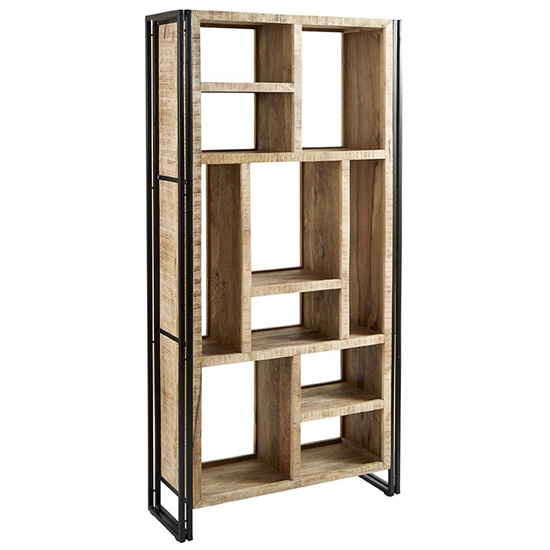 Clio Wooden Shelving Bookcase In Oak_2