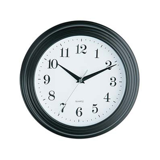 black vintage wall clock