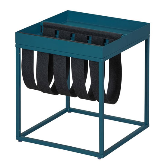 Club NY Magazine Metal Side Table In Scandinavian Blue_2