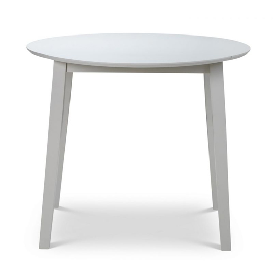 Coast Dropleaf Wooden Dining Table In Pebble
