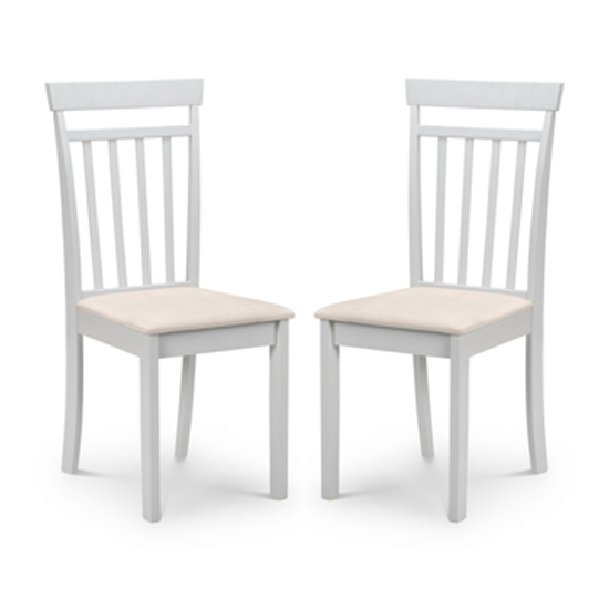Coast Pebble Wooden Dining Chair In Pair