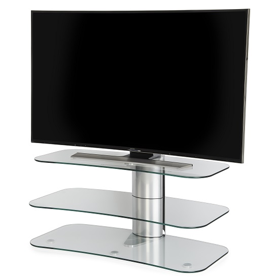 Coaster Bedroom Furniture >> Coaster Glass TV Stand In Clear With Chrome Supports | Furniture in Fashion