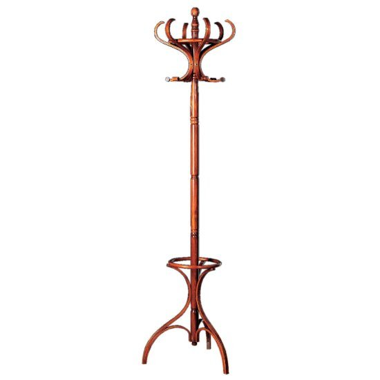 Floor Standing Wooden Coat Stand In Mahogany 2751 Furniture