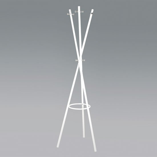 Cross Coat And Hat Stand In White