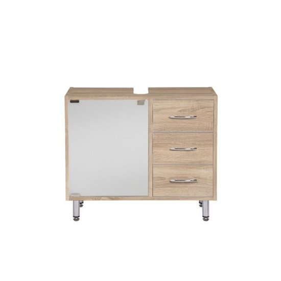 Cobham Bathroom Vanity Cabinet In Sonoma Oak Effect