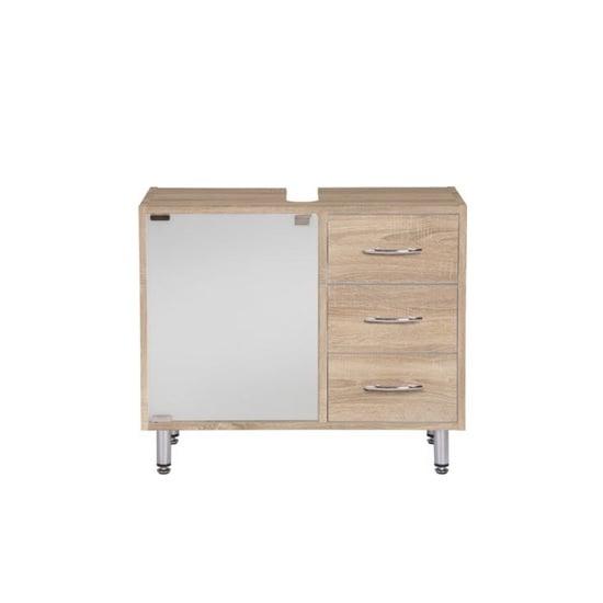 Photo of Cobham bathroom vanity cabinet in sonoma oak effect