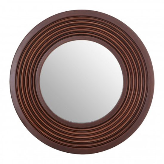 Coco Wall Bedroom Mirror In Brown Frame