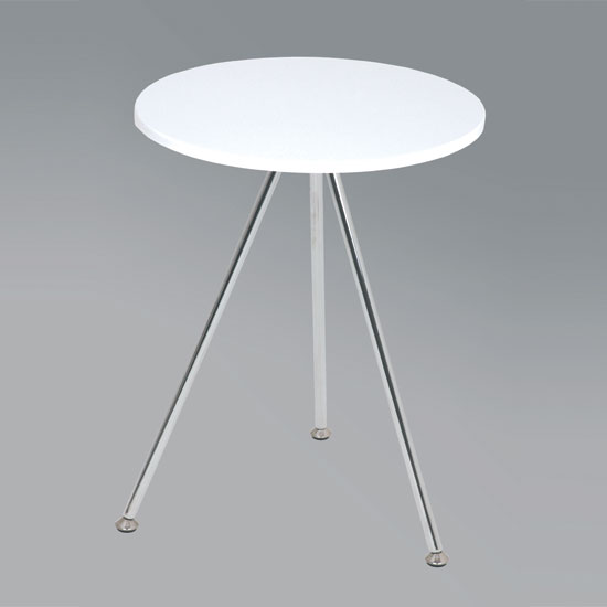 Wito End Table In White and Chrome