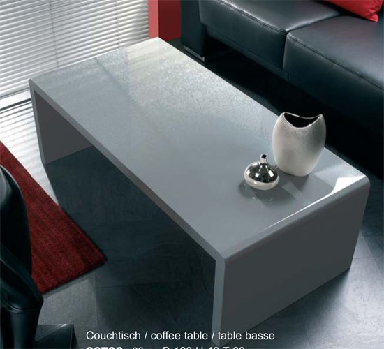 White High Gloss Side End Square 2 Seats Of Coffee Table: Grey High Gloss Side / Coffee Table