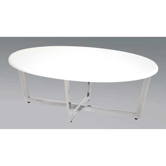 Furniture In Fashion Contemporary Oval White Coffee Table Uk Supplier Cheap E Deals