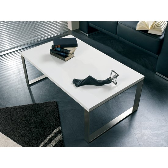 Verona Extendable High Gloss Coffee Table In White 21025: Jazz Stacking White Faux Leather Chair