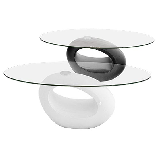 Nebula Oval Glass Top Coffee Table