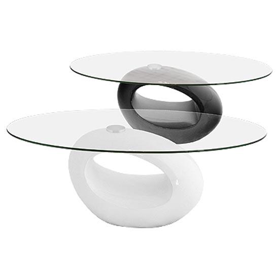 Nebula Oval Glass Top Coffee Table