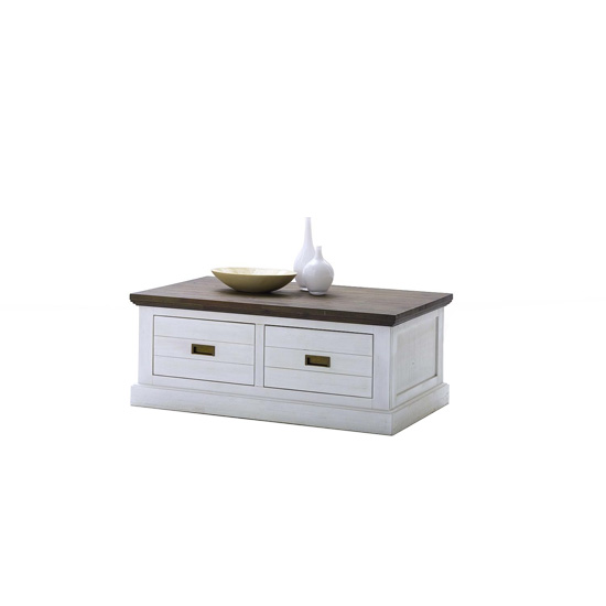Gomera Coffee Table In White Acacia