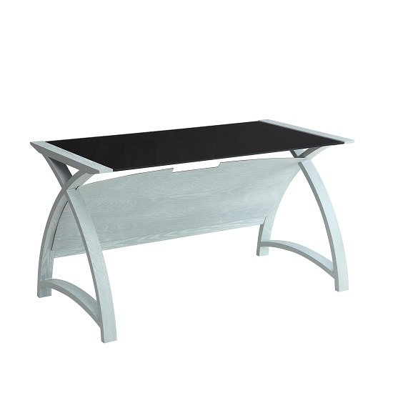 Cohen Curve Laptop Table In Black Glass Top And Grey Ash_2