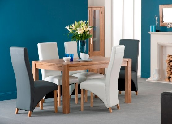 Colorado American Oak Dining Table Set With 6 Paris Dining Chair