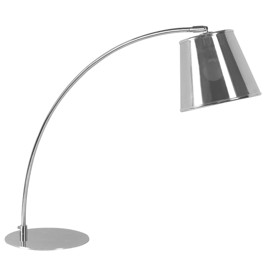 View Coldin metal shade table lamp with chrome