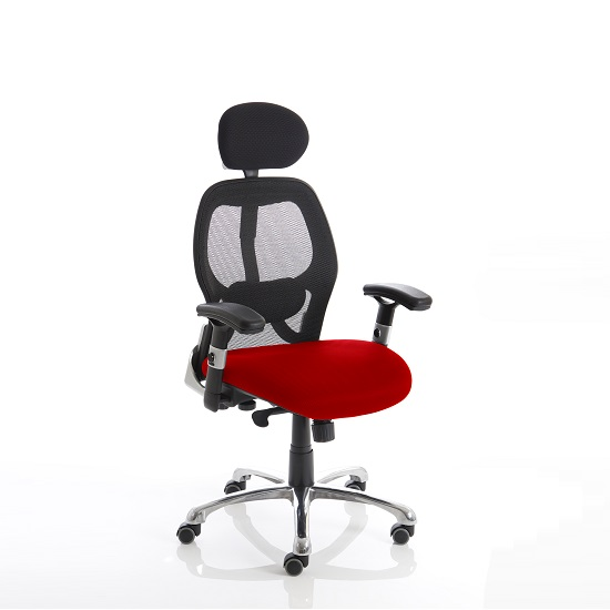 Coleen Home Office Chair In Cherry With Castors