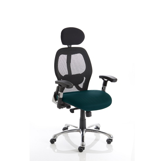 Coleen Home Office Chair In Kingfisher With Castors