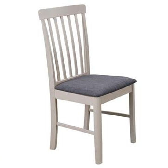 Cologne Fabric Padded Dining Chair In Grey