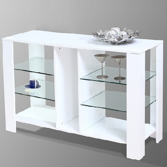 cologne modern display cabinet in white high gloss