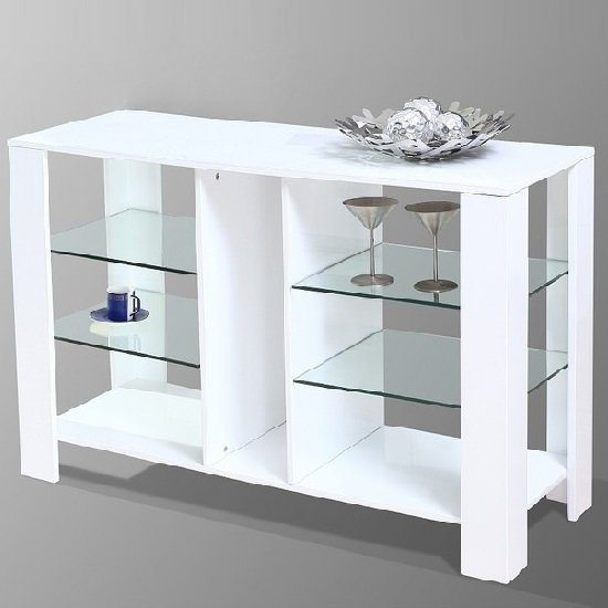 Read more about Cologne modern display cabinet in white high gloss