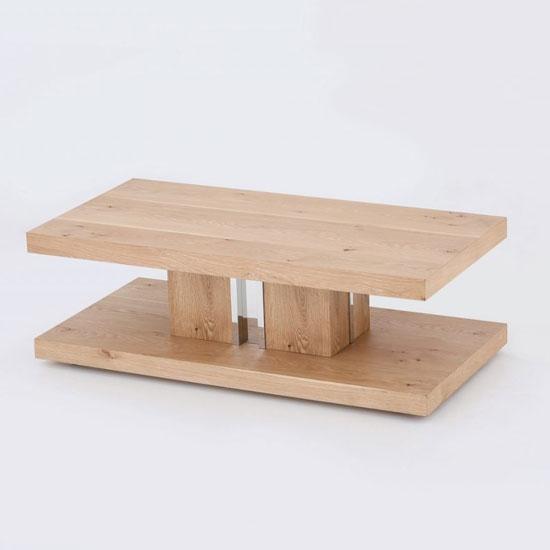 View Colorado wooden coffee table in white oak veneer