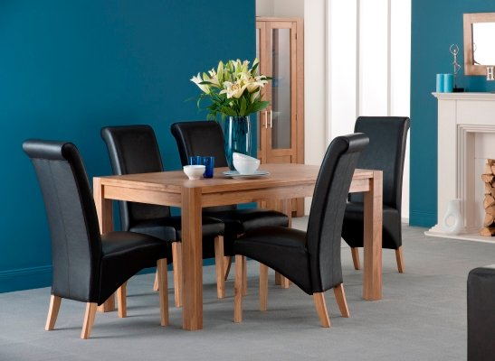 Colorado American Oak Wooden Dining Table And 6 Dining Chairs